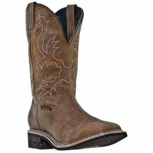 Men's Dan Puntera Cuadrada 12  Nogales Bronceado Post Impermeable botas DP69791 occidental