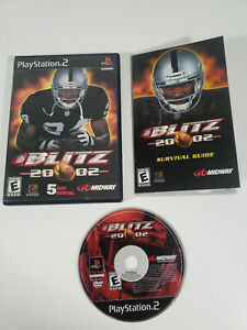 NFL-Blitz-20-02-Sony-PlayStation-2-PS2-2002-Complete-w-Manual-Tested-Works