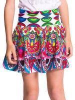 Desigual Caldes Girls Cotton Floral Print Skirt