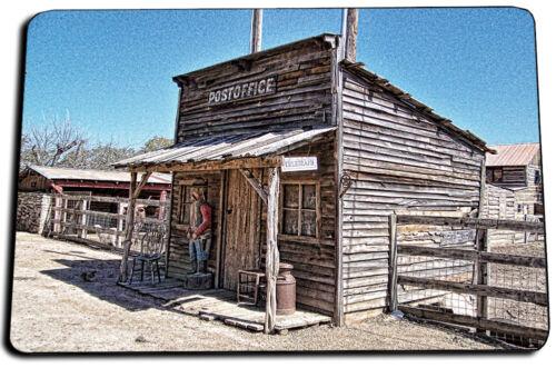 Vintage Western Post Office For Cowboys Design Indoor Rug Door Mat