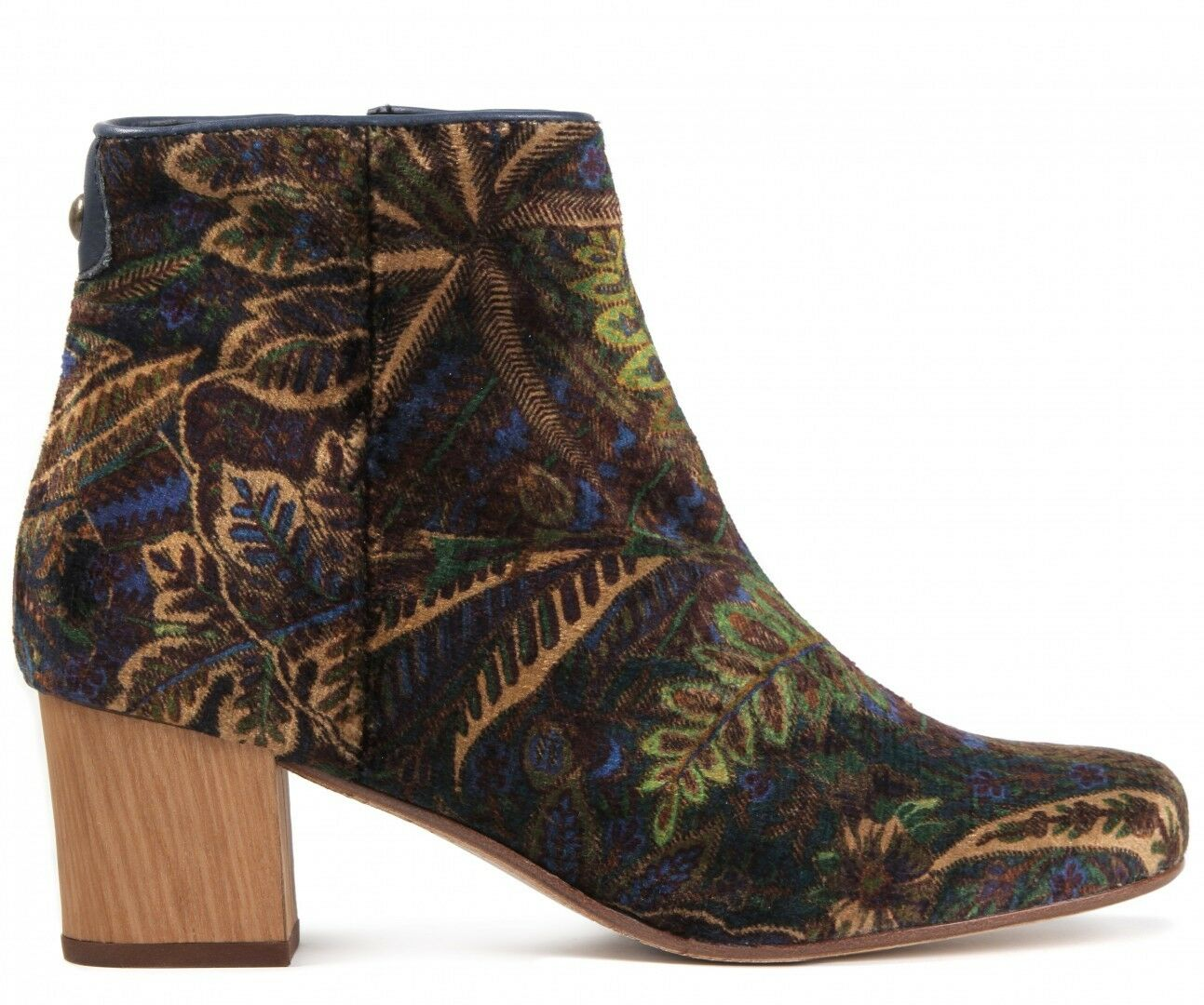 H By Hudson Garnett Versatile Velvet Liberty 3 Ankle Leder Schuhes Stiefel 3 Liberty to 7 40 047aff