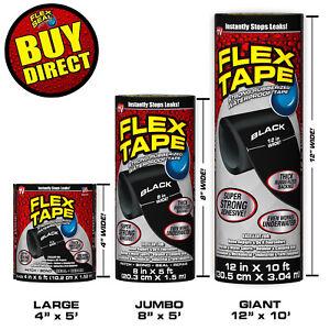 "Super Strong Waterproof Flex Tape Clear 4/"" x 5/' Rubberized BUY DIRECT!"