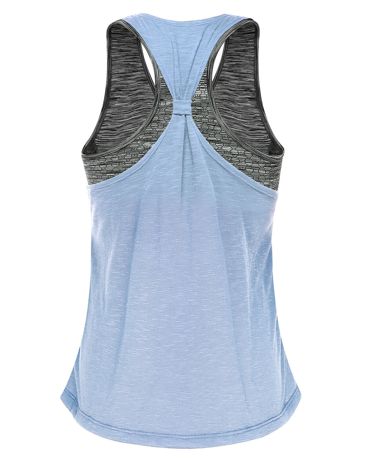 Yoga Tops for Women with Sports Bra Workout Shirts Pilates Gym Exercises