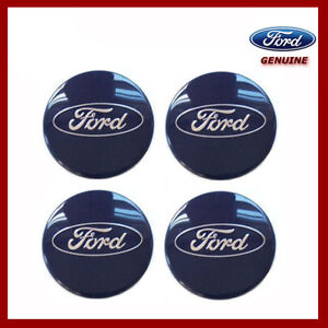 X4 GENEUNE  Ford  Kuga 60mm Alloy Wheel Centre HUB CAP Set BLUE