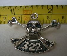 LODGE 322 SKULL AND BONES YALE SECRET SOCIETY 925 Pendant
