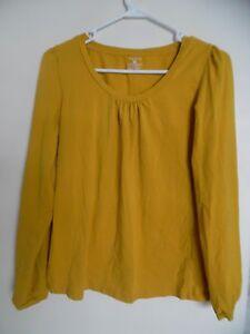 Jones-New-York-Signature-Yellow-long-sleeve-Knit-top-Shirt-Blouse-Sz-M