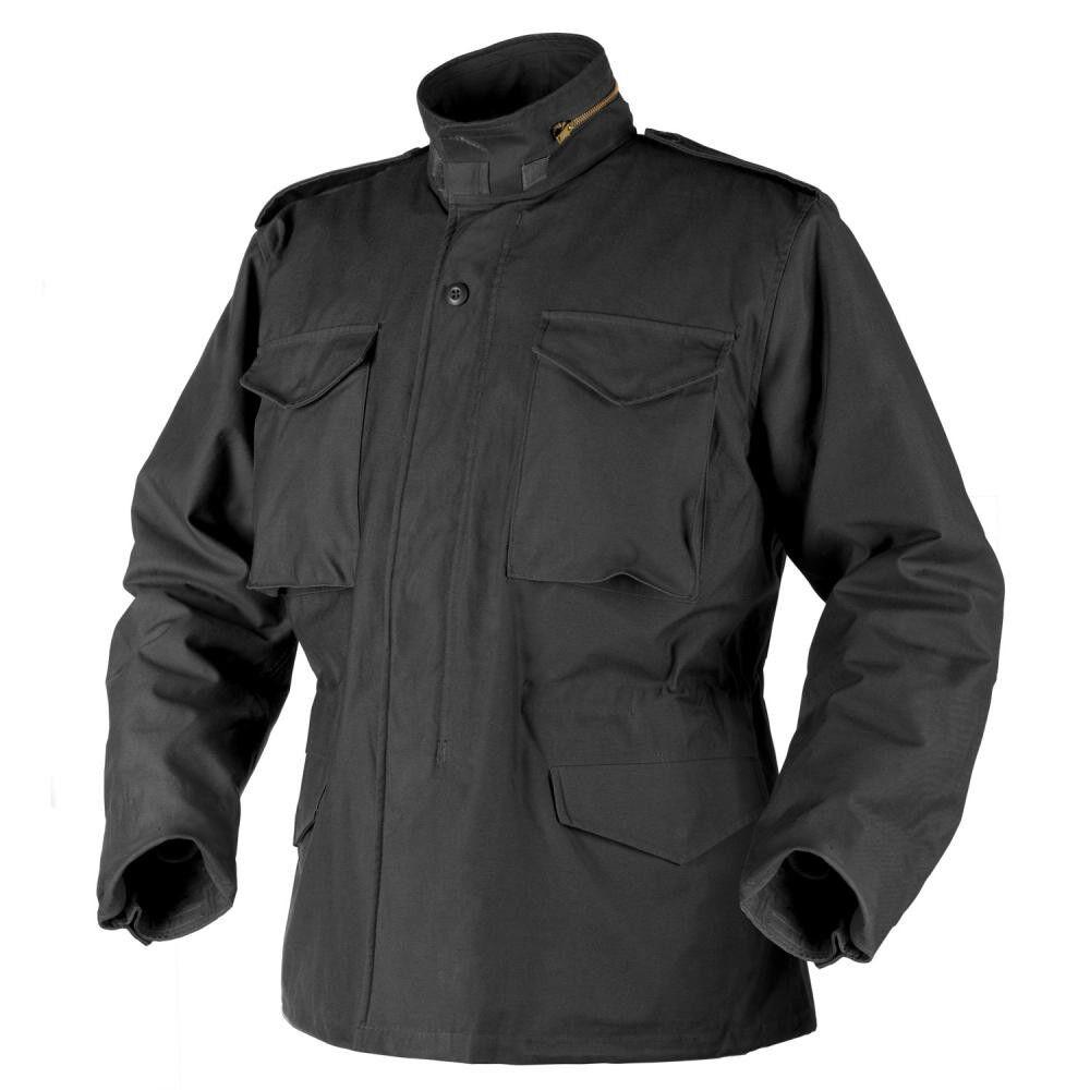 HELIKON TEX US M65 Jacke Army Field Parka Jacket schwarz m Futter Medium Regular