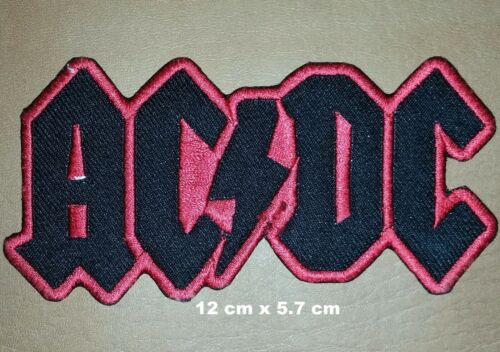 ACDC  large Iron On Sew On Embroidered Patch Rock Metal bands