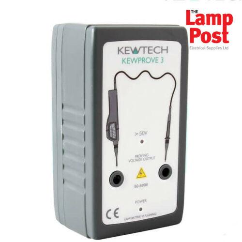 Kewtech kewprove 3 690V AC/DC demostrando unidad eléctrica Tester