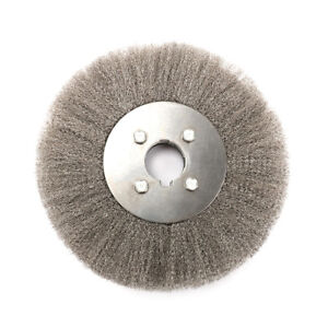 New 8 Inch 32mm Arbor Crimped Stainless Steel Wire Wheel Brush For Bench Grinder Ebay