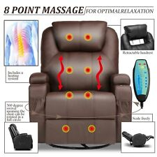 Homcom Deluxe Heated Vibrating PU Leather Massage Recliner