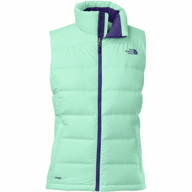 The North Face Nuptse 2 Down Vest - Womens Surf Green XS for sale ... ebb773b21