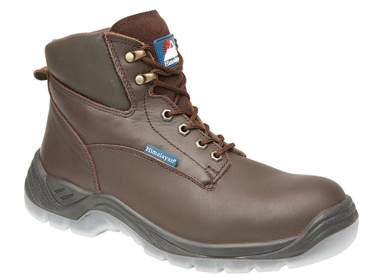 Himalayan 5053 s3 Acciaio SRC BROWN IN PELLE Acciaio s3 Puntale Escursionista Stivali di sicurezza Work Boot 925736