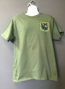 c663c062200 USFS FOREST SERVICE SMOKEY THE BEAR   WOODSY THE OWL OD Green Short ...