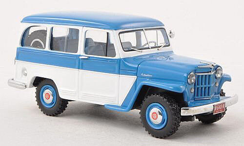 Jeep Willys Station Wagon 4x4 1954 blu bianca 44640 neo 1 43 New in a box