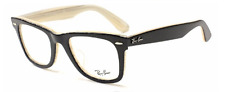 NEW AUTHENTIC RAY- BAN MEN'S EYEGLASSES RB5121F 2464 WAYFARER BLACK/IVORY 50-22