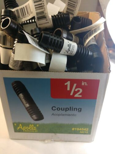 LOT of 10 Poly 1//2-in Irrigation Coupling Fitting Apollo AIC12