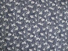 """Liberty of London Tejido de popelín de algodón """"Hesketh"""" 1.4 metros azul marino CAMPANILLA blanca"""