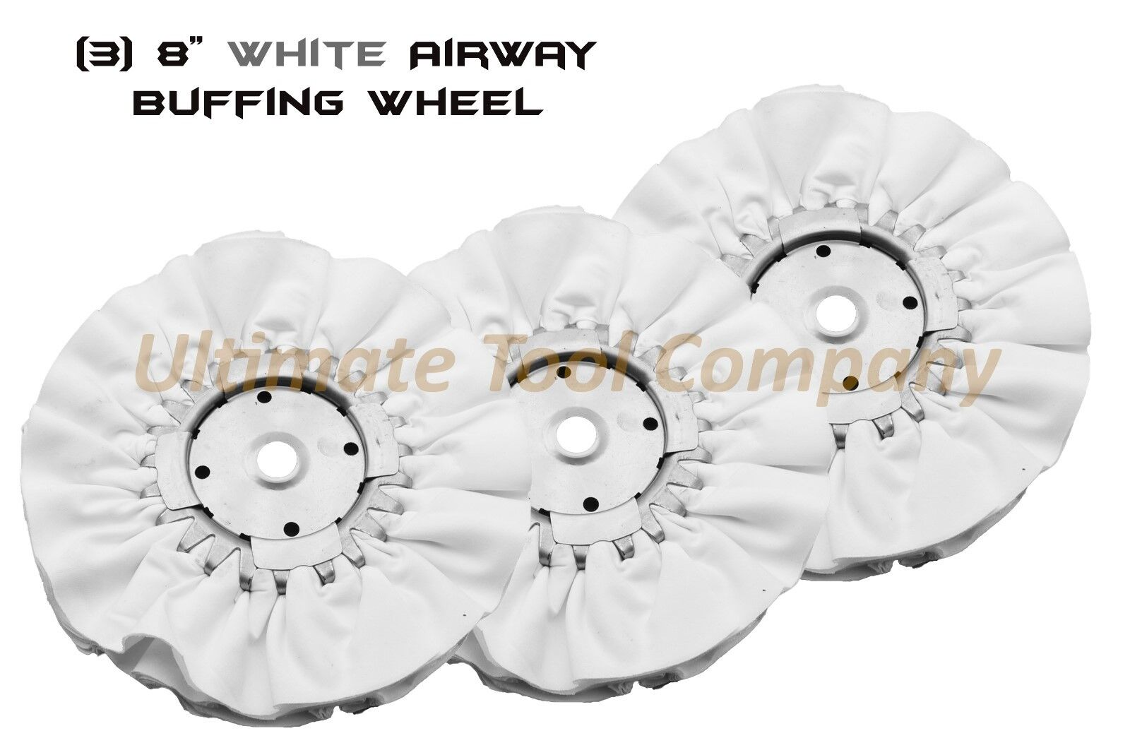 3pc 8  Airway Buffing Wheel 5 8   16 PLY Renegade Products Polishing DIA Weiß