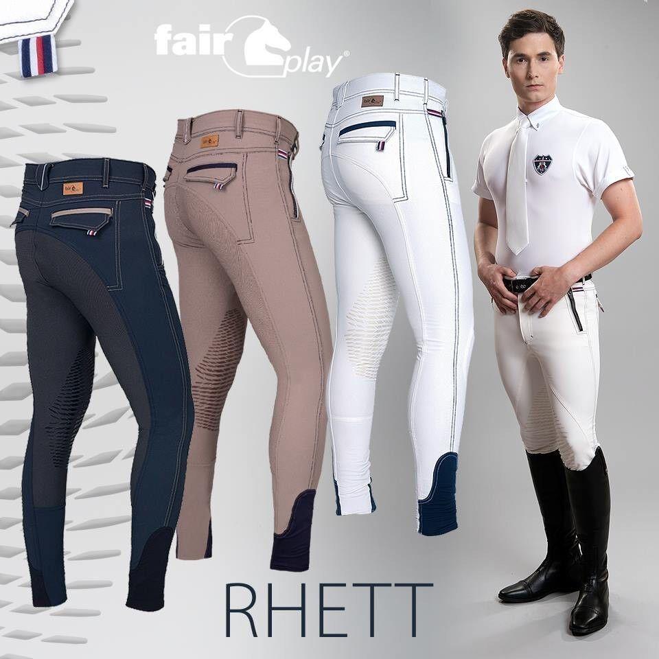 Fairy men breeches Rhett white knee finishing leg elastic