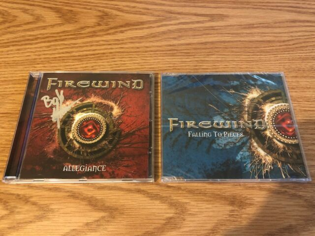Firewind Allegiance SIGNED by BOB KATSIONIS & Falling to Pieces SEALED CD SINGLE