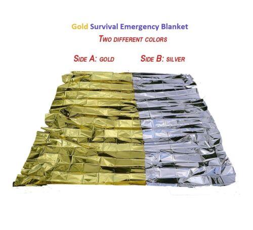 Urgence Solaire Couverture de survie sécurité isolante Mylar thermique Gold-Pack de 25