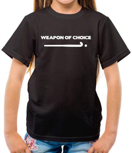 Weapon Of Choice Field Hockey Player Kids T-Shirt Olympics Stick