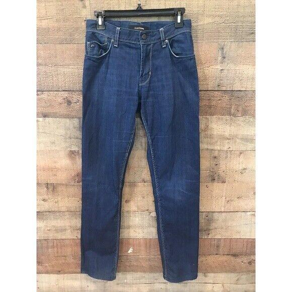 J.Lindeberg Men's Jeans Blue Resin Coated Damian Slim/Skinny 29x32