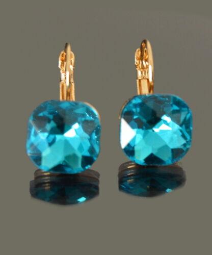 Brisur aretes cristal cuadrado parís ohrhänger Trachten joyas faceta 5 color