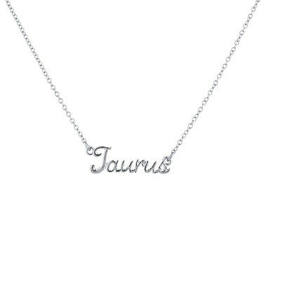Lux Silvertone Gemini Zodiac Necklace