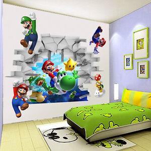 A Imagem Está Carregando Super Mario Bros Parede Sticker Vinyl Decal  Familia  Part 56