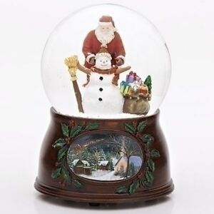 Father-Christmas-Building-A-Snowman-Snow-Globe