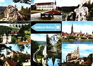 Schwäbische Albstrasse , Ansichtskarte, gelaufen - Kiel, Deutschland - Schwäbische Albstrasse , Ansichtskarte, gelaufen - Kiel, Deutschland