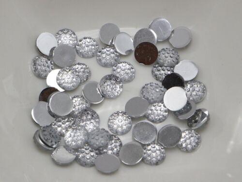 500 Clear Acrylic Round Flatback Dotted Rhinestone Gem Beads 6mm Flat back Resin