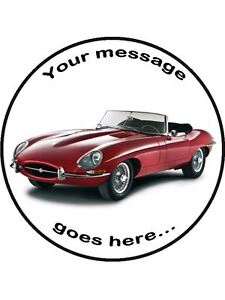 1961 Jaguar E Type Edible Topper Wafer Or Icing 7 1 2 Round Cake