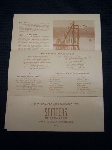 1950 BSA Dan Beard Council Camp Watres 4pg Brochre Application Mailer