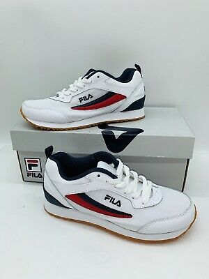 Realm Runner Sneakers White Navy Red