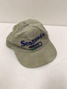 6b6404386 Vintage 1990 s Seattle Seahawks Grey Corduroy Hat NFL Cap Snapback ...