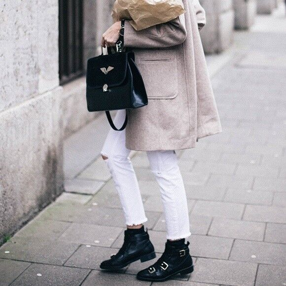 Zara Negro Acolchado Cuero Verdadero Tobillo botas Talla 6 EU EU EU 36  compras en linea