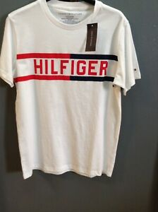 Boy/'s Long Sleeve T-shirt Tommy Hilfiger Poppy Red w// Big TH Print MEDIUM