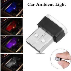 Multi-color-Mini-USB-LED-Wireless-Auto-Car-Interior-Lighting-Atmosphere-Light-HQ