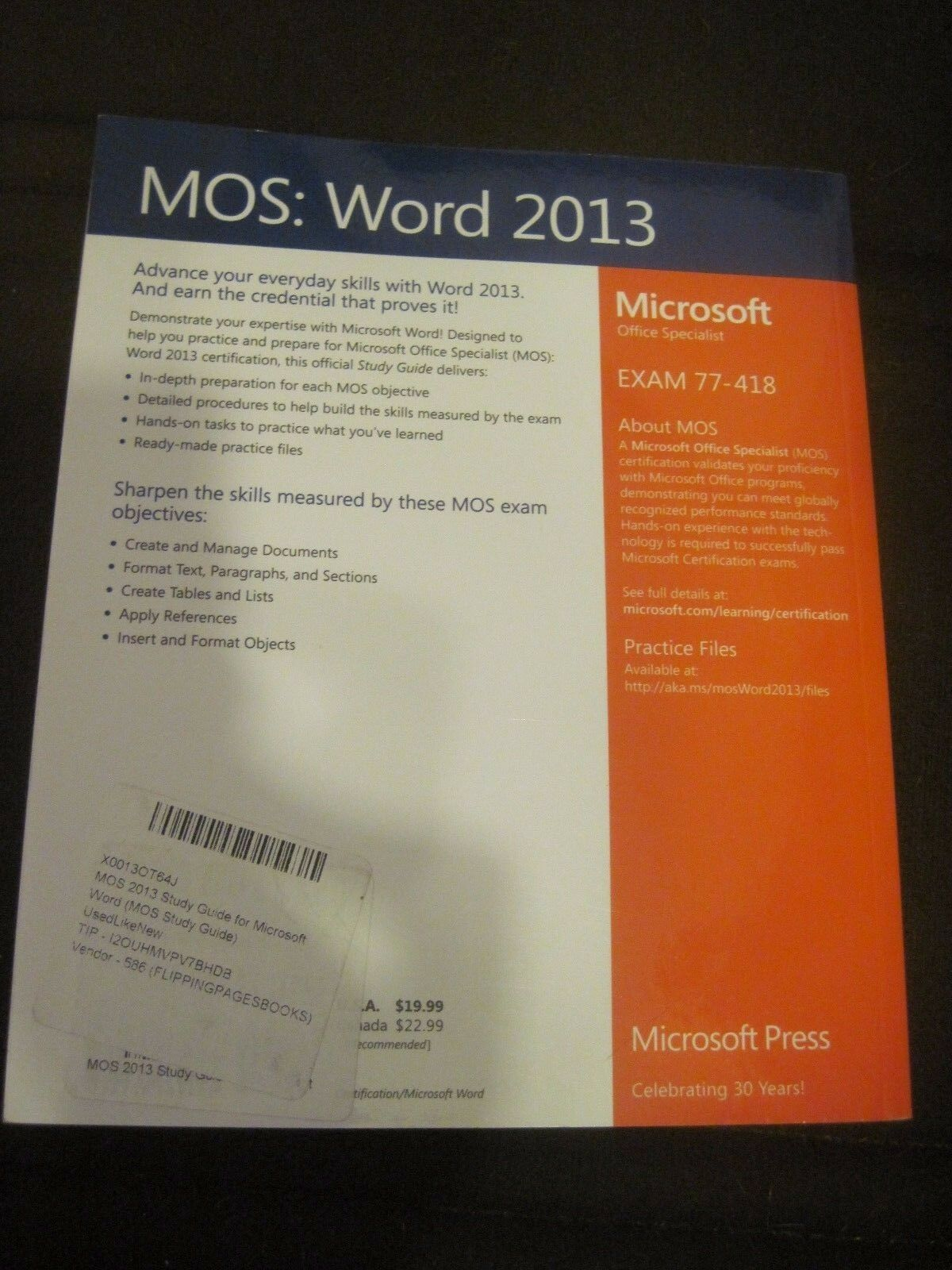 Mos Study Guide Mos 2013 Study Guide For Microsoft Word By Joan