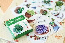 Plantas De Sellado Pegatinas kawaii Dibujos Animados Cactus Craft Diario Álbum de Recortes hágalo usted mismo Pegatina