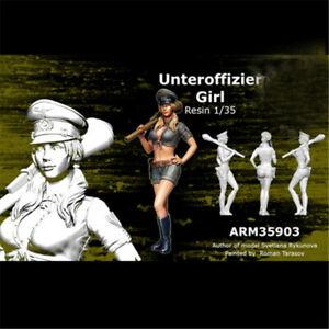 1-35-Female-Soldier-Resin-Kits-Unpainted-WW2-Figure-Model-GK