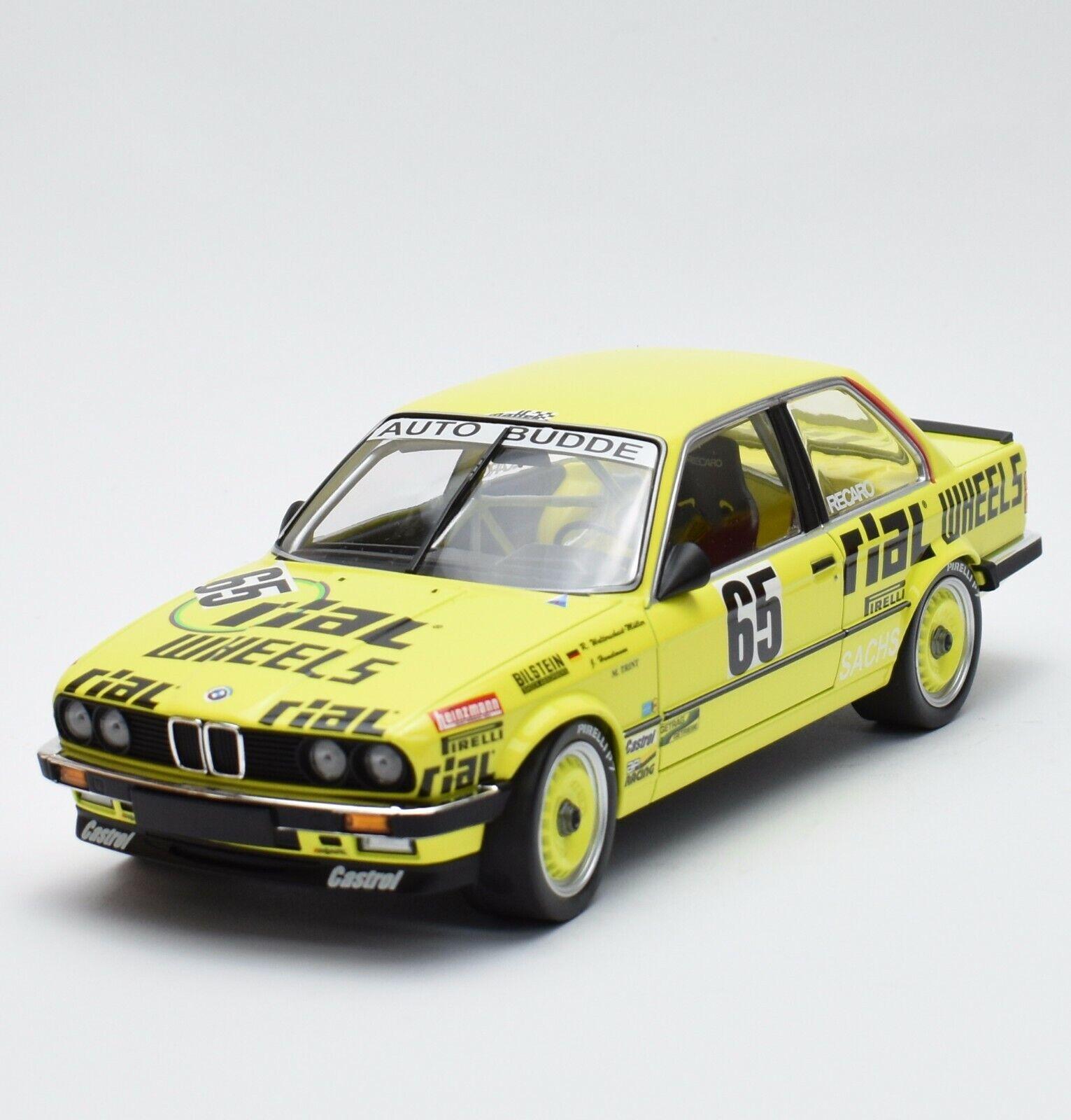 MINICHAMPS BMW 325i voiture Budde Team 24 H Nürburgring 1986, 1 18, NEUF dans sa boîte, b317