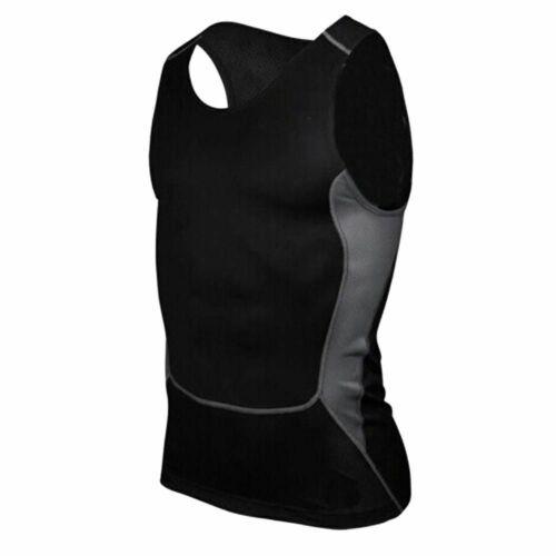 Men Running Vest Gym Sleeveless Shirt Fitness  Sports Tight Compression T Shirt