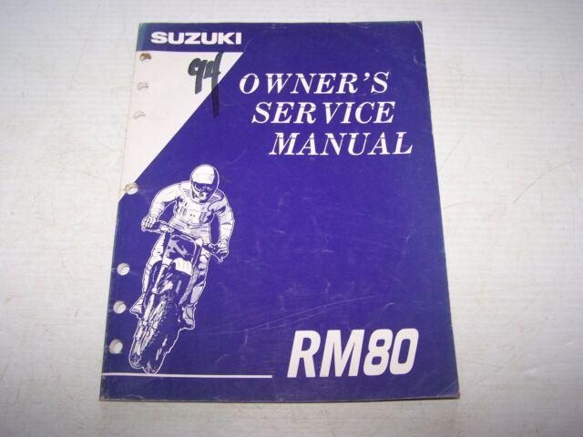 owners service manual suzuki 1995 rm80 rm 80 s012 ebay rh ebay com suzuki rm80 service manual 1978 Suzuki RM 80