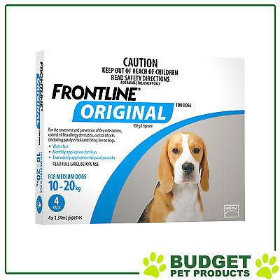 Frontline Original For Medium Dog 10-20kg 4 Pack