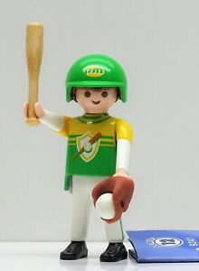 Baseball Giocatore Playmobil Figures 12 Boys 9241> Guanti Casco Sport USA - Raro