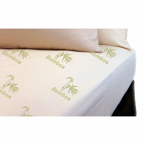 High Quality Soft Elasticated FITTED Bamboo Memory Foam Mattress Protector